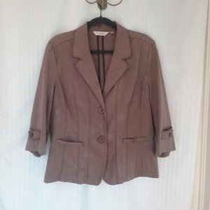 🌞 Tradition Floral Pattern Tan / Brown Jacket, 16